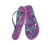 Printed Flip Flops in Boysenberry