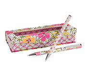Perfect Match Pen and Pencil Set in Tea Garden