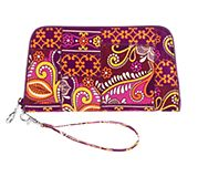 Zip Around Wristlet in Safari Sunset