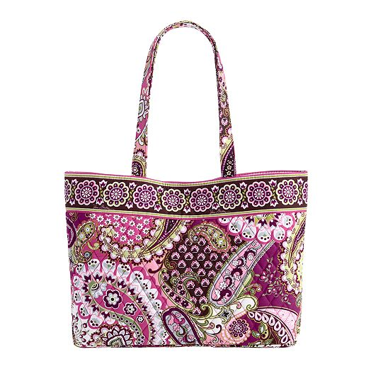East West Tote in Very Berry Paisley