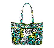 East West Tote in Island Blooms