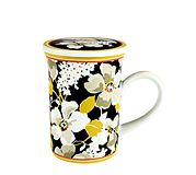 Porcelain Mug with Cover in Dogwood