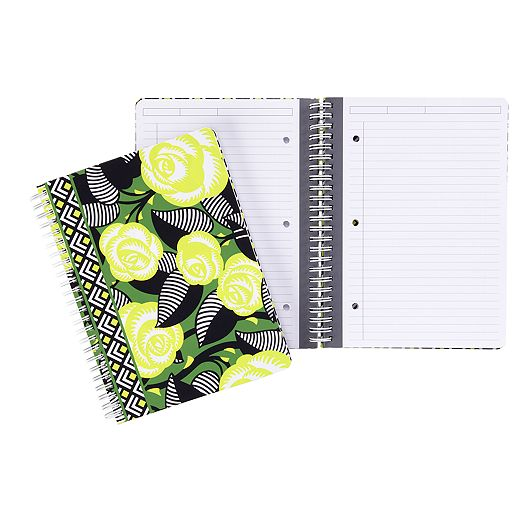Mini Notebook with Pocket in La Neon Rose