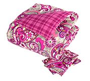 Reversible Comforter Set Full/Queen in Paisley Meets Plaid