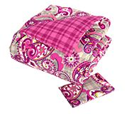 Reversible Comforter Set Twin/Twin XL in Paisley Meets Plaid