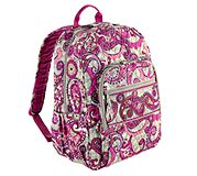 Campus Backpack in Paisley Meets Plaid