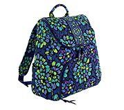 Double Zip Backpack in Indigo Pop