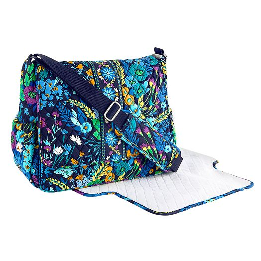 Messenger Baby Bag in Midnight Blues