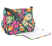 Messenger Baby Bag in Jazzy Blooms