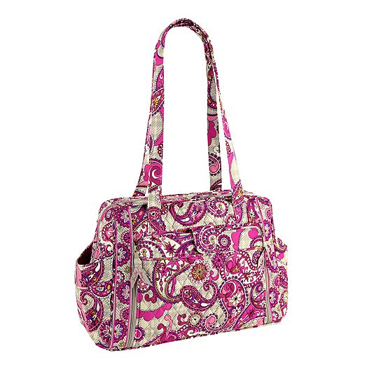 Make a Change Baby Bag in Paisley Meets Plaid