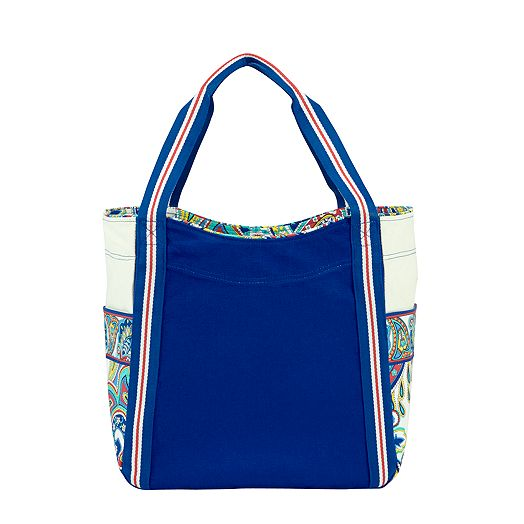 Large Colorblock Tote in Marina Paisley