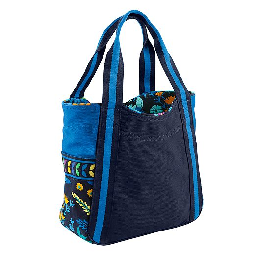 Small Colorblock Tote in Midnight Blues