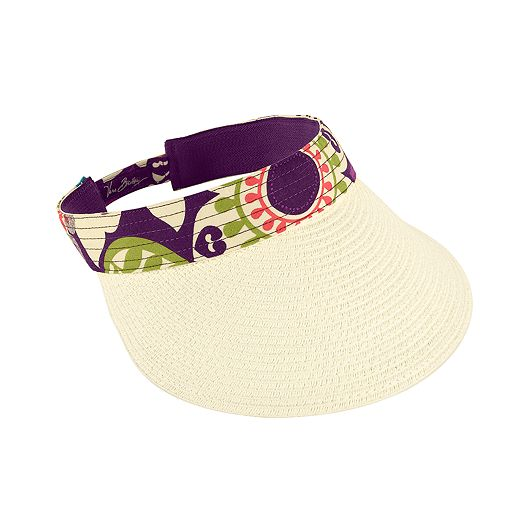 Straw Visor in Plum Crazy