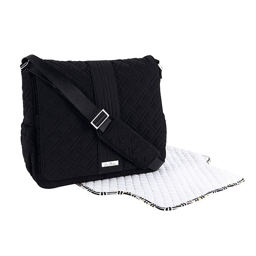 Messenger Baby Bag in Classic Black