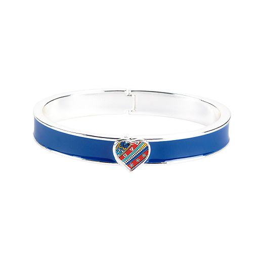 Heart Bangle in Marina Paisley