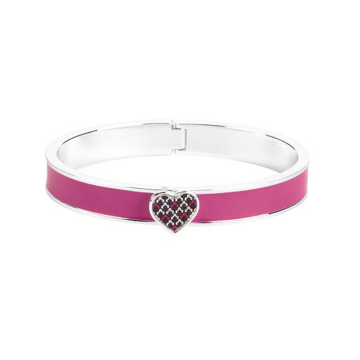 Heart Bangle in Canterberry Magenta