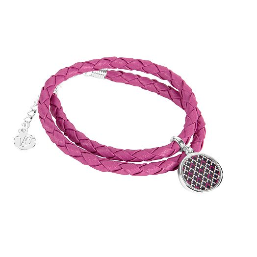 Braided Charm Bracelet in Canterberry Magenta