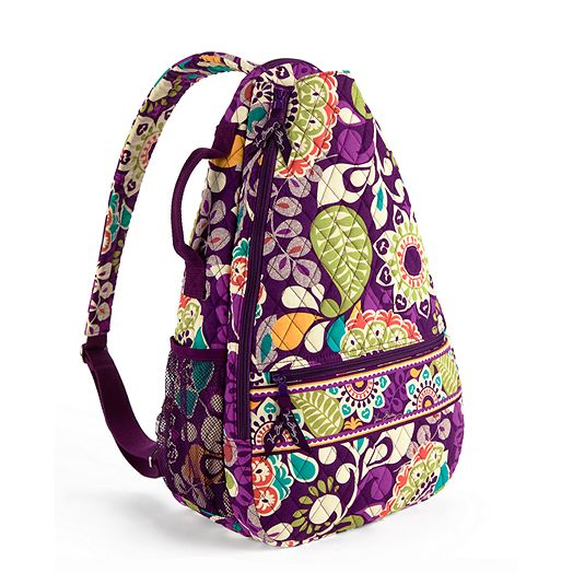 Sling Tennis Backpack in Plum Crazy
