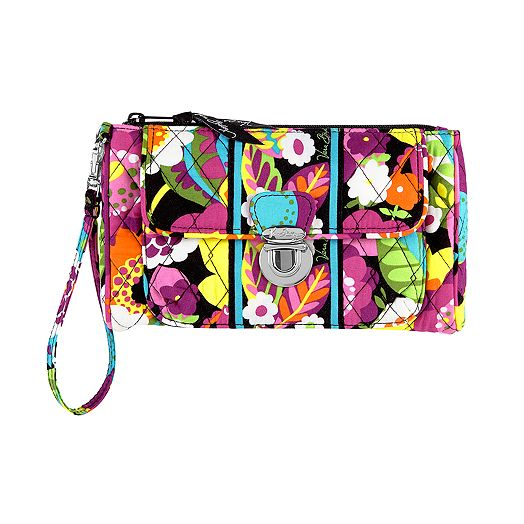 Pushlock Wristlet in Va Va Bloom