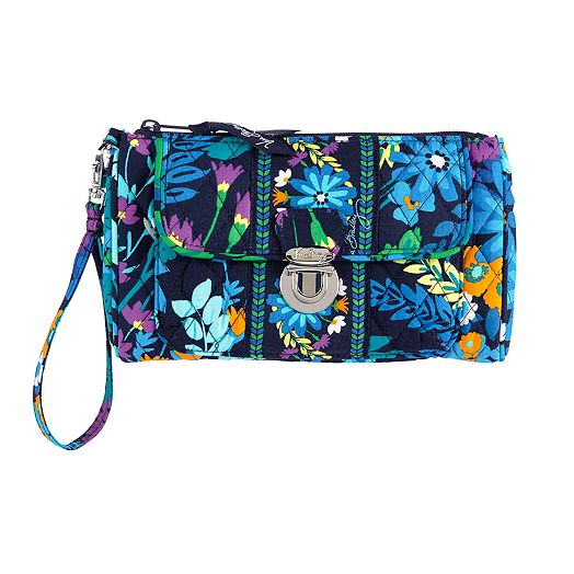Pushlock Wristlet in Midnight Blues