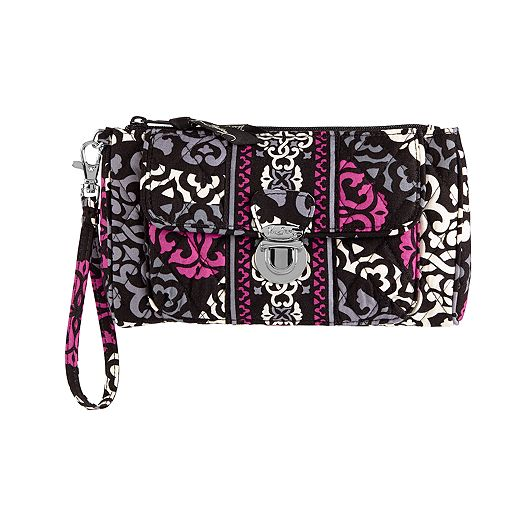 Pushlock Wristlet in Canterberry Magenta