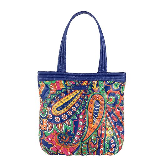 Puffy Reversible Tote in Venetian Paisley