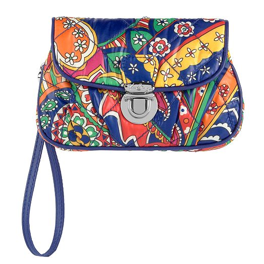 Puffy Wristlet in Venetian Paisley