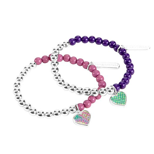 Beaded Bracelet Duo in Heather
