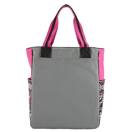 Large Colorblock Tote in Canterberry Magenta