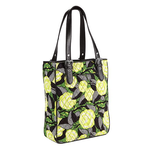 Buckle Tote in La Neon Rose with Black Trim