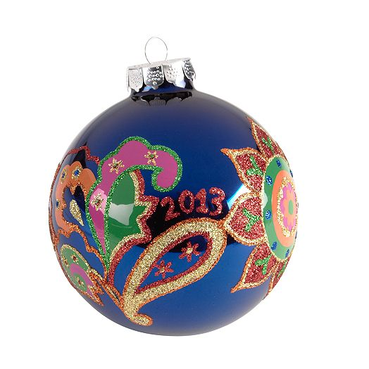 Holiday Ornament in Venetian Paisley