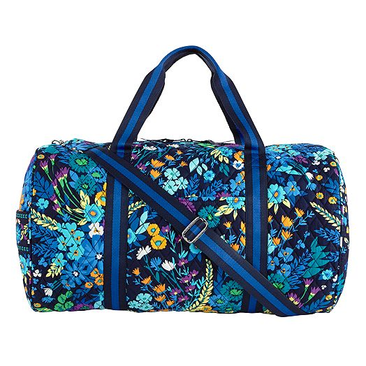 Round Duffel in Midnight Blues