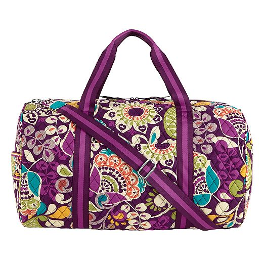 Round Duffel in Plum Crazy