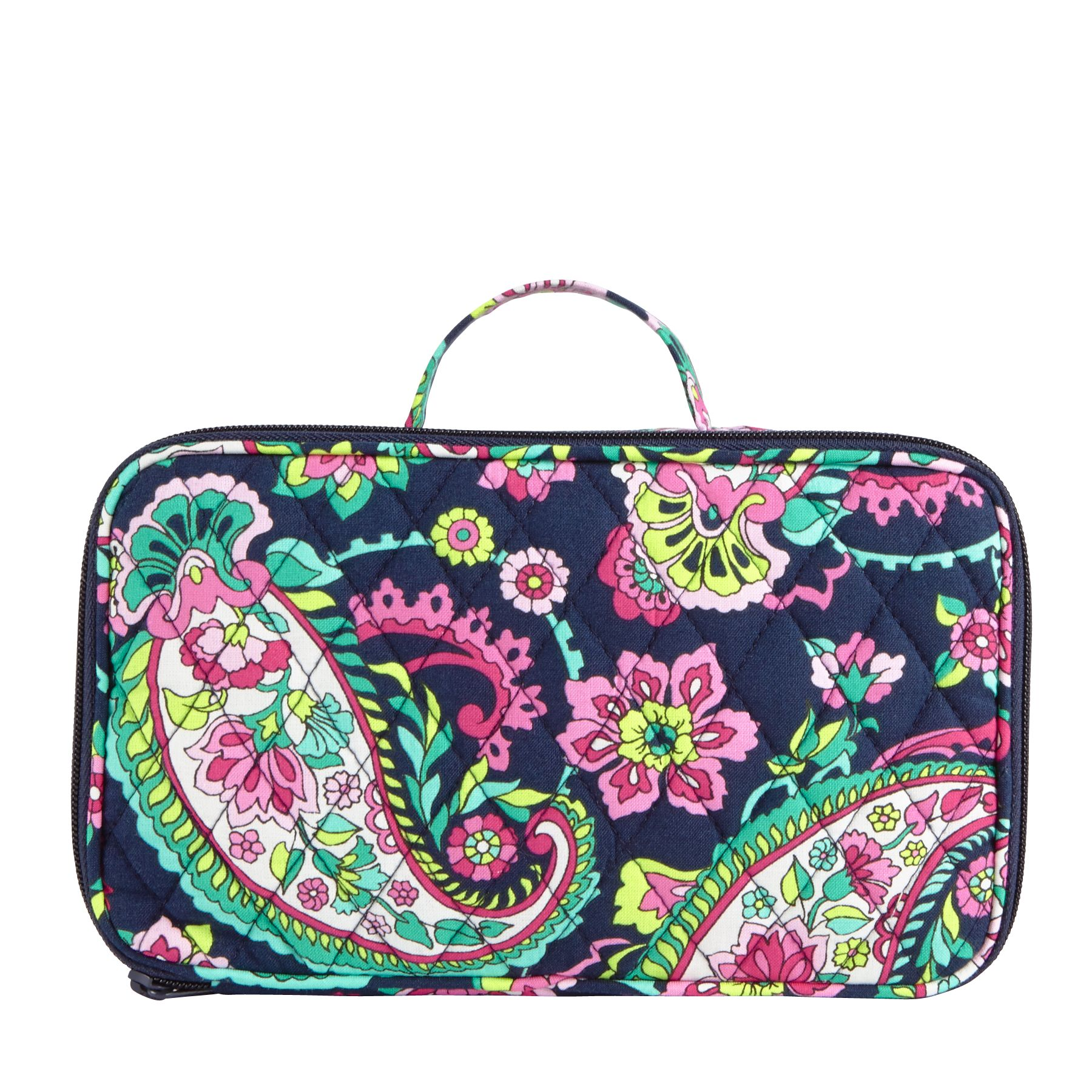 Details about Vera Bradley Blush u0026 Brush Makeup Cosmetic Case