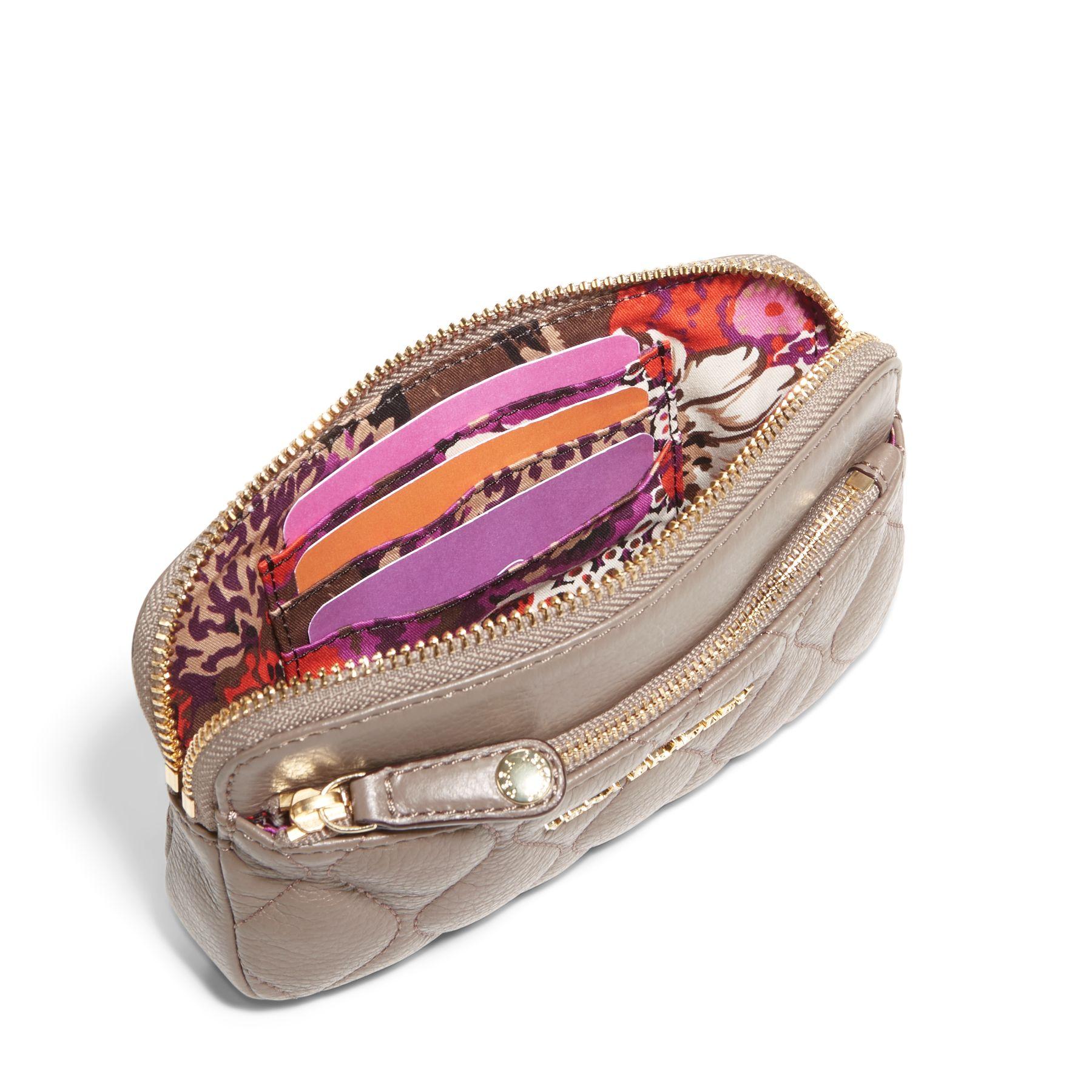 Vera Bradley Leather Quilted Sophie Wristlet Ebay
