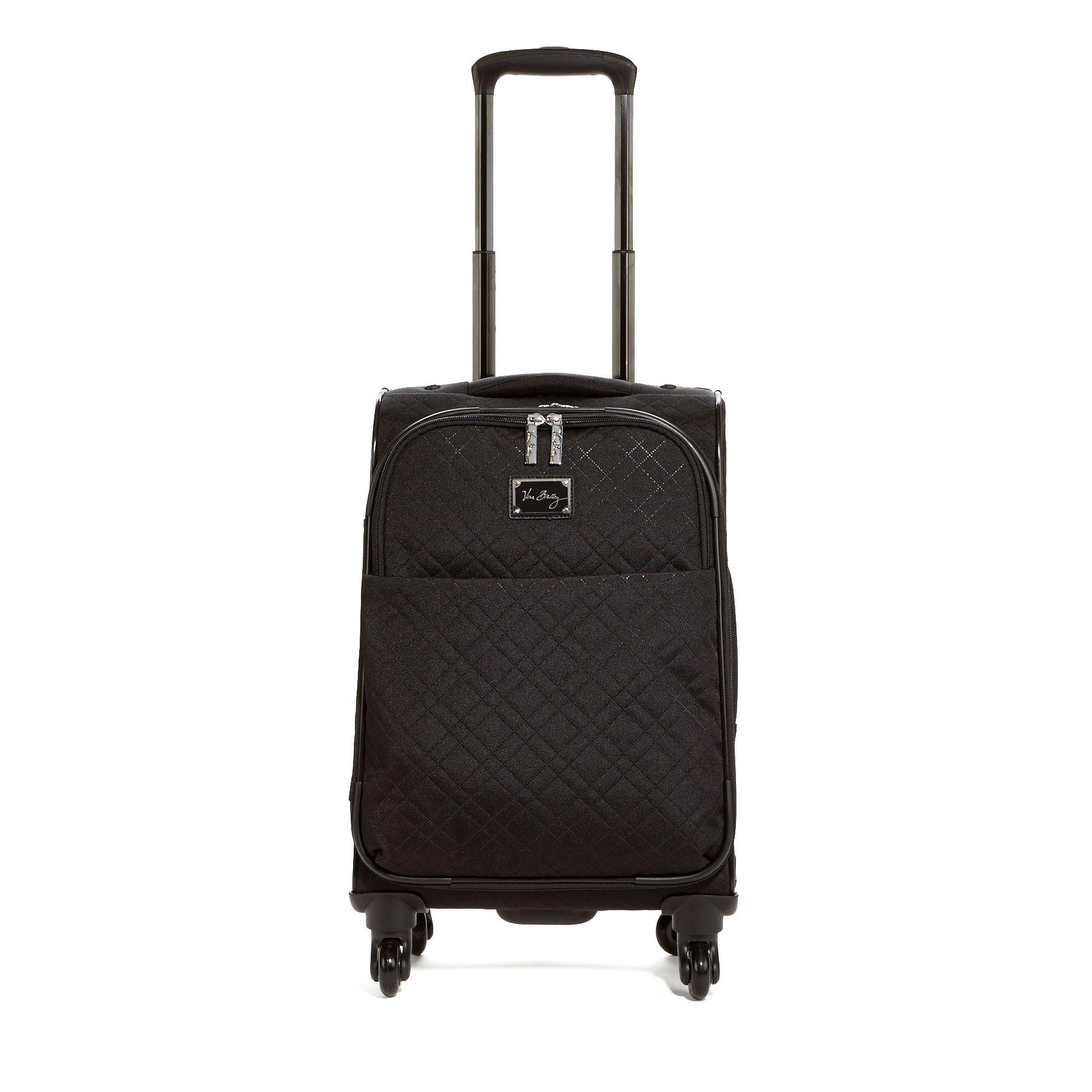 Vera Bradley Small Spinner Luggage In Classic Black