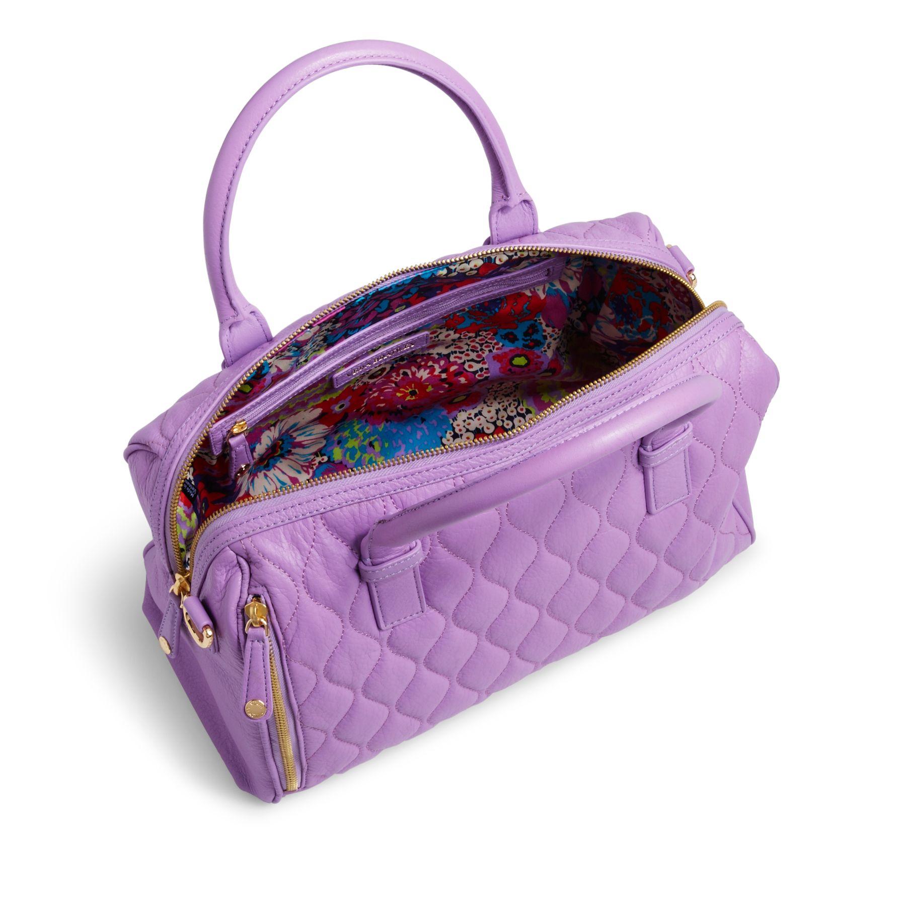 Vera Bradley Quilted Leather Marlo Satchel Bag Ebay