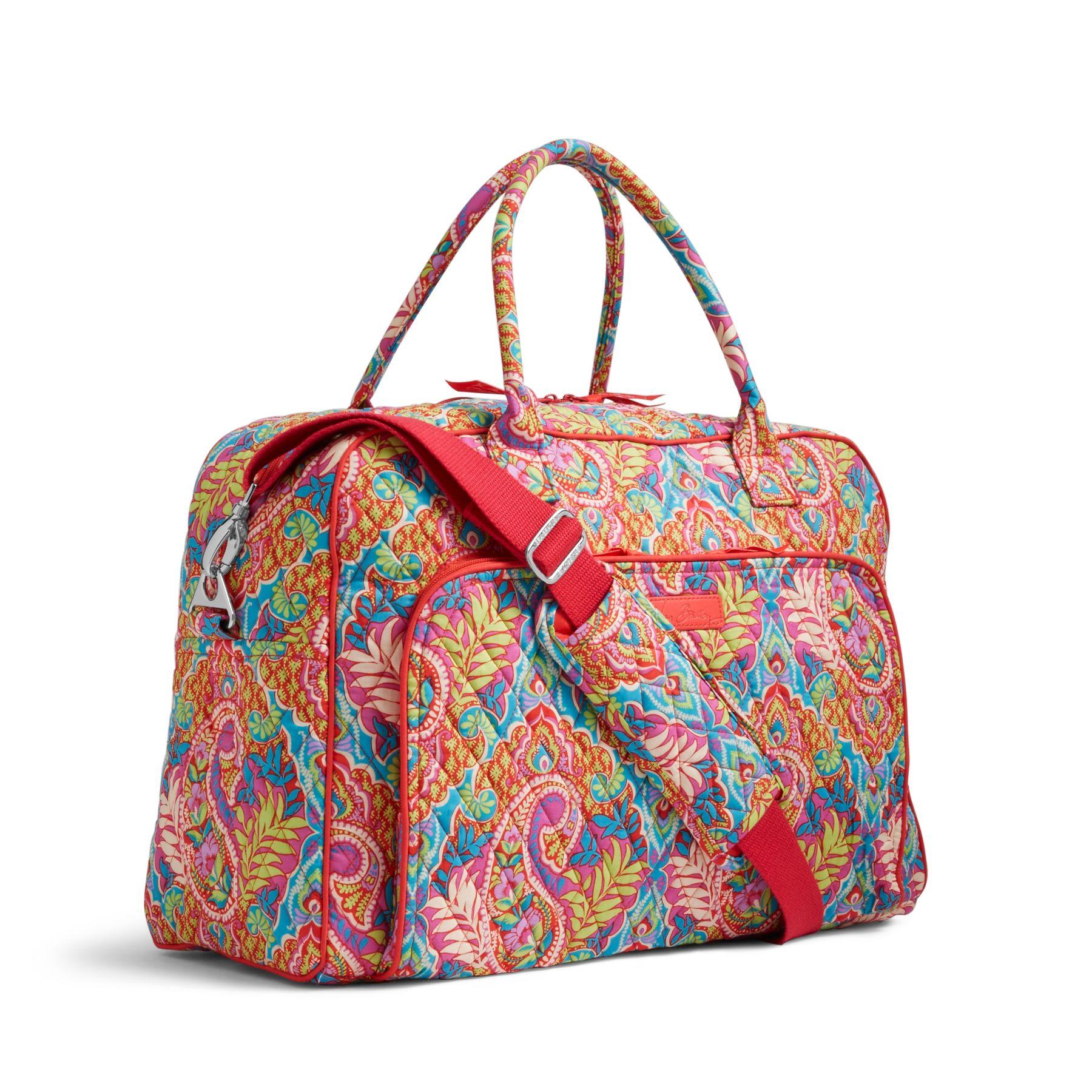 vera bradley weekender duffel travel bag ebay
