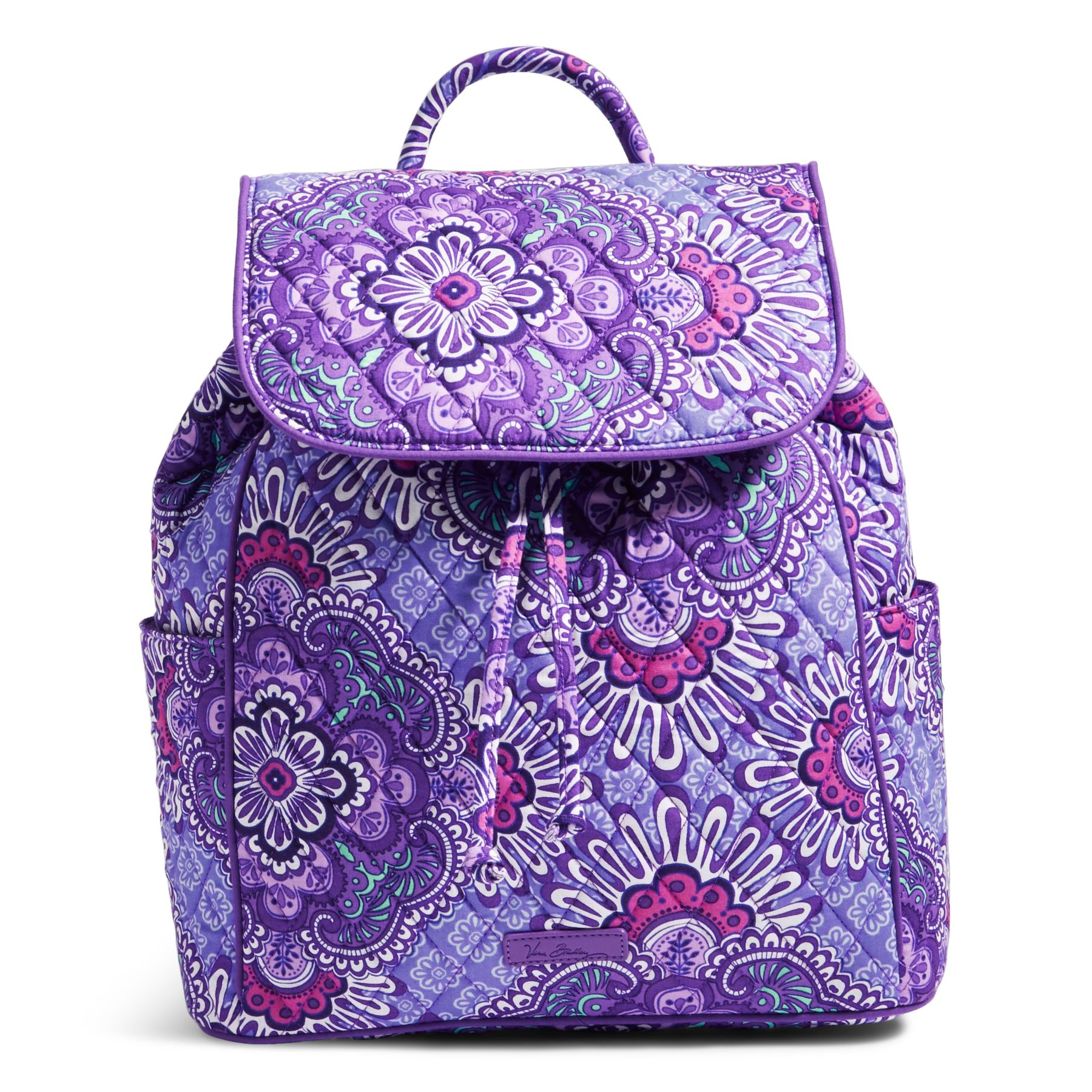Vera Bradley Drawstring Backpack In Lilac Tapestry