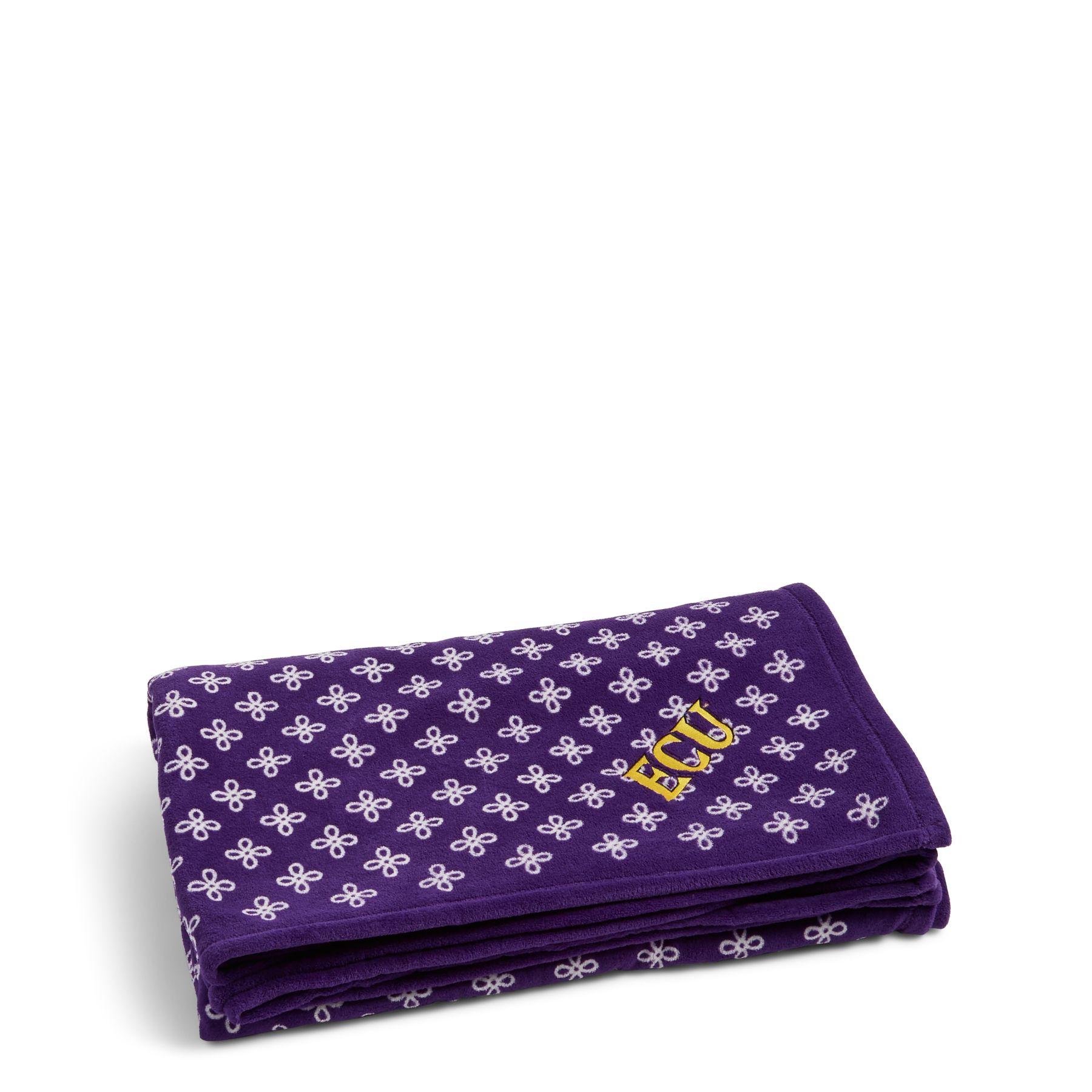 Vera Bradley Xl Throw Blanket In Purple White Mini 88