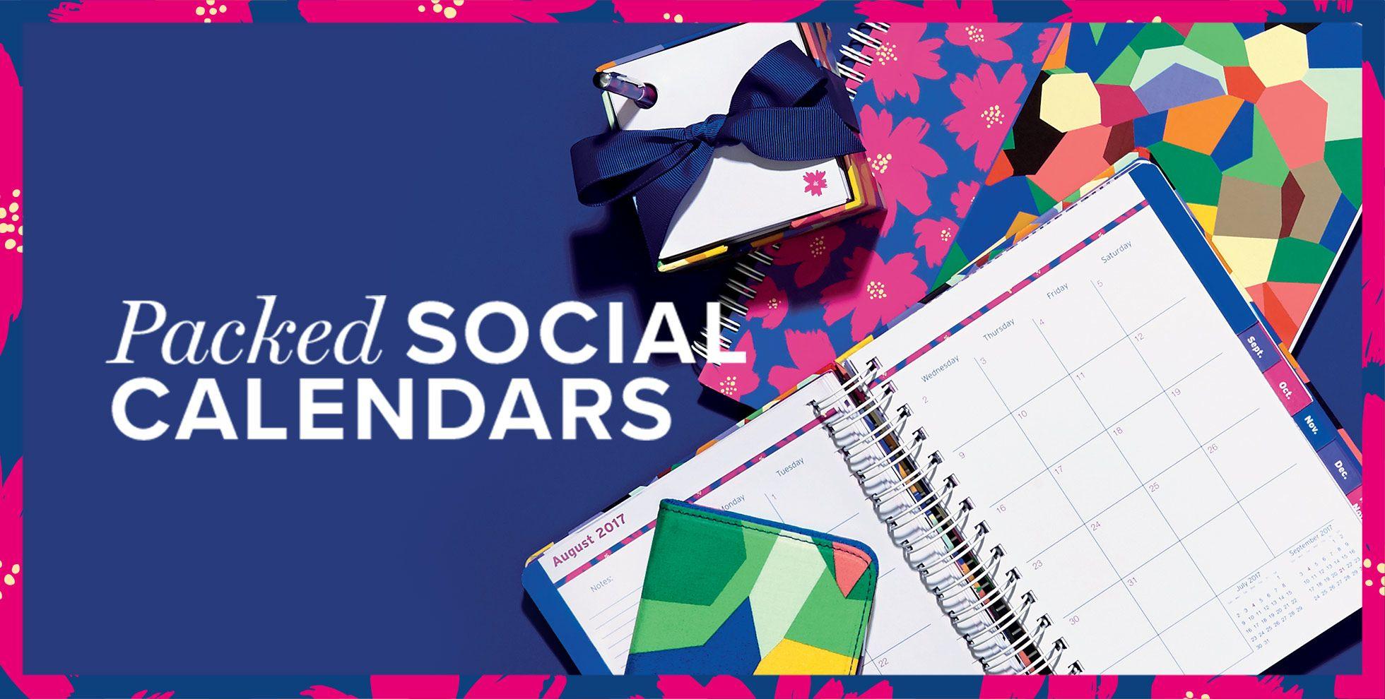 Packed social calendars