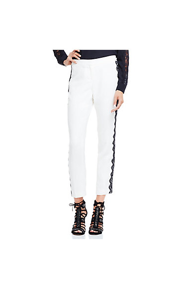 VINCE CAMUTO SIDE LACE TRIM SKINNY ANKLE PANT