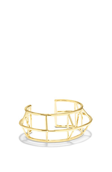 VINCE CAMUTO GOLD GRAPHIC CAGE CUFF