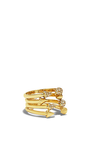 VINCE CAMUTO GOLD TRIANGLE STUD TIP RING SET