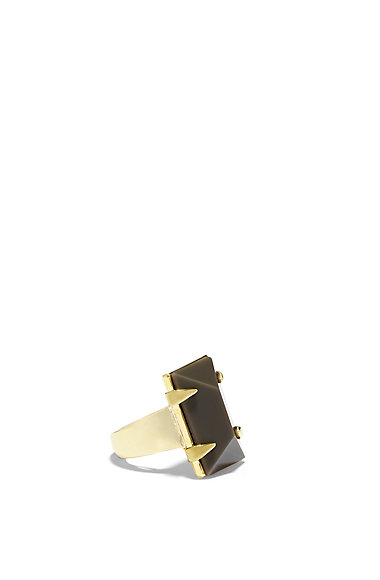 VINCE CAMUTO RECTANGULAR BLACK STONE RING