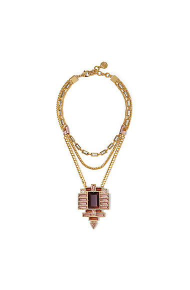 LOUISE ET CIE   MULTI-STONE DRAMA NECKLACE