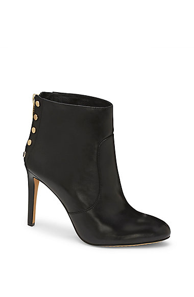 VINCE CAMUTO BUSTELL- FLAT STUD HIGH HEEL BOOTIE