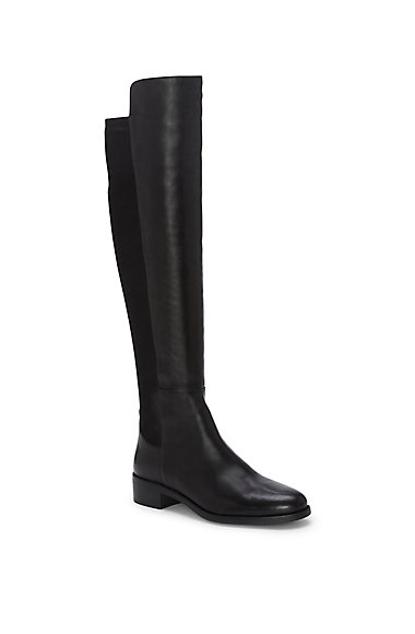 VINCE CAMUTO JEVINA- LEATHER & NEOPRENE TALL BOOT