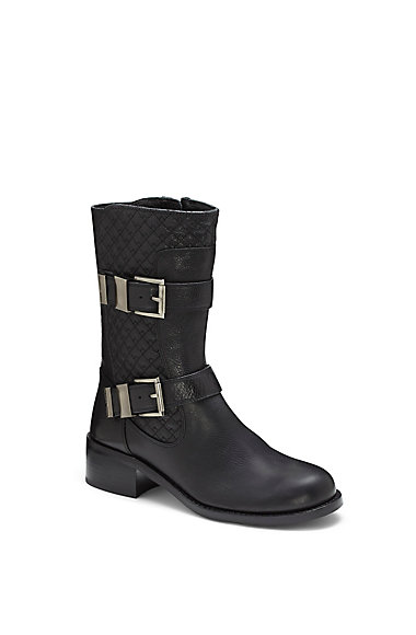 VINCE CAMUTO WELTON- QUILTED BUCKLE MOTO BOOT