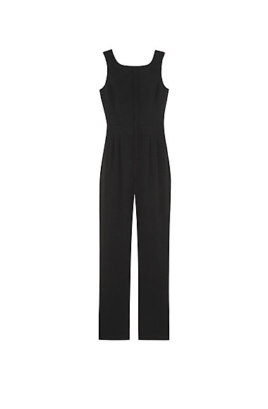 VINCE CAMUTO BLACK BACK CUTOUT JUMPSUIT
